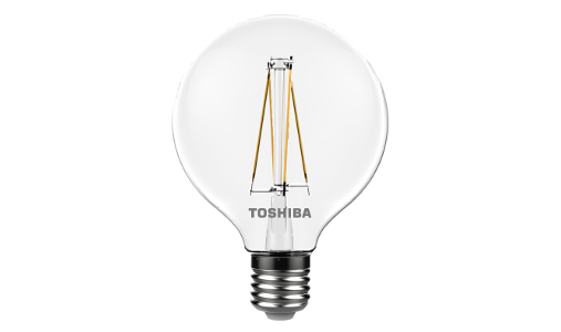 Toshiba LED filament globe topled